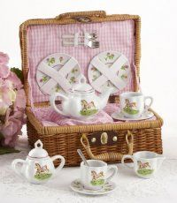 For Sale! Pony Tea Set for Two Shabby Cottage Romantic Kids Tea Party