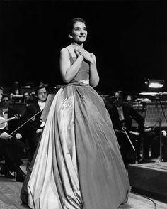Maria Callas il suo primo concerto al London's Royal Festival Hall
