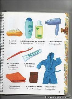italiano-oggetti da bagno