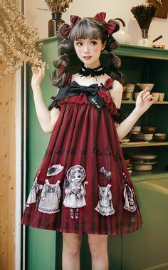 Yolanda -The Lolita Kittens- Lolita JSK Version I,Lolita Dresses, Set Fashion, Japan Fashion, Kawaii Fashion, Girl Fashion, Rock Fashion, Fashion Boots, Fashion Accessories, Skull Fashion, Emo Dresses
