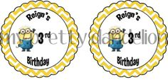 Personalized Despicable Me Tag 6 by MyPrettyDandelion on Etsy, $4.00