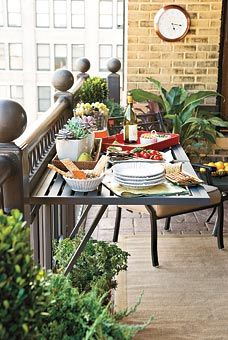 Balcony Collapsible Table.  The most brilliant idea...ever.  love it!!!