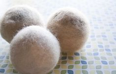 Set of 3 Dryer Balls -Natural fabric softener, recycled/salvaged 100% wool, extra large, felted by SuzannesSoaps on Etsy