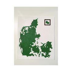 Denmark Map, Hama Beads Design, Pearler Beads, Beading Patterns, Cross Stitch Embroidery, Pixel Art, Diy And Crafts, Creative, Deviantart