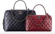 Fall-Winter 2015 16 Pre-Collection - Lambskin bowling bag with a CHANEL c5d918a641