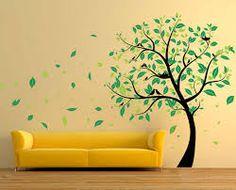 wundersch ner baum mit rosa bl ten an der wand malen kinderzimmer pinterest w nde pelz. Black Bedroom Furniture Sets. Home Design Ideas