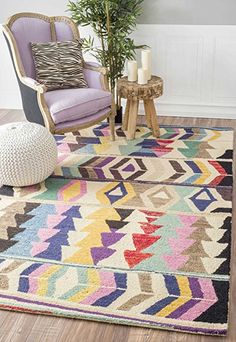 Amazon.com: Handmade Tribal Arrowheads Rainbow Area Rug: Kitchen & Dining