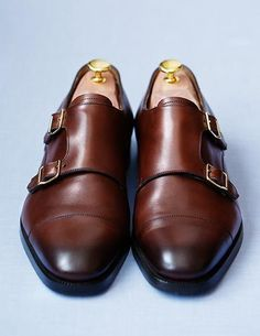 Ralph Lauren Alston Double Monk Straps == More men's fashion ideas @ www.fullfitmen.com == Shoes for men, Men's Shoes, Shoes