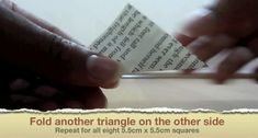 Picture of Fold Another Triangle Origami Ball, Origami Paper, Easy Origami, Origami Boxes, Origami Instructions, Origami Tutorial, Diy Projects Origami, Origami Jewelry, Diy Jewelry