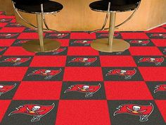 "Tampa Bay Buccaneers 18""x18"" Carpet Tiles"