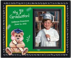 Preschool, Kindergarten, First Graduation Custom Picture Frame with Matching Personalized Diploma-Bear, 10 Frames Expressly Yours! Photo Expressions,http://www.amazon.com/dp/B006F625QK/ref=cm_sw_r_pi_dp_T7A9sb0MS2DY14T6