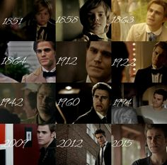 Stefan throughout the years / The Vampire Diaries