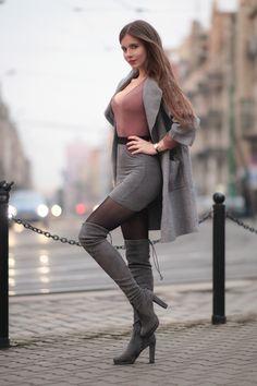 Ariadna majewska women's style and fashion fashion, black wo Black Women Fashion, Womens Fashion For Work, Black Suede Boots, Sexy Boots, Fashion Over 40, Women's Fashion Dresses, Fashion Blouses, Fashion Boots, Fashion Fashion