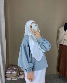 Modest Fashion Hijab, Modern Hijab Fashion, Casual Hijab Outfit, Islamic Fashion, Fashion Outfits, Muslim Fashion, Formal Pants Women, Modele Hijab, Mode Abaya