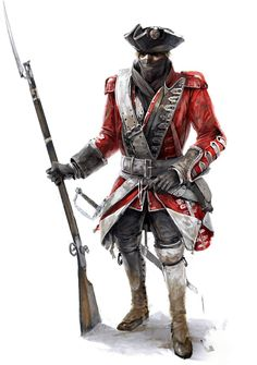 Assassin's Creed III Art & Pictures  British Soldier
