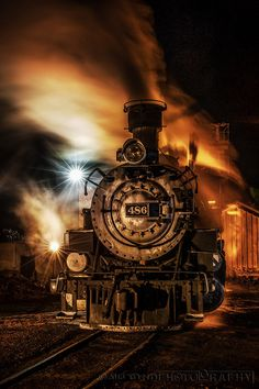 steam locomotive in New Mexico Train Tracks, Train Rides, Bonde, Train Art, Night Train, Train Pictures, Old Trains, Vintage Trains, Steam Engine