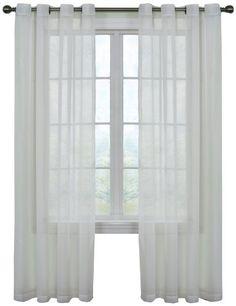 Arm and Hammer Curtain Fresh Odor Neutralizing Sheer Curtain Panel, 95 Inches, White Curtain Fresh