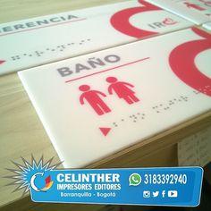 Señalización con Impresión Digital y acabado UV para Sistema Braille. Envíos a todo el país WhatsApp 3183392940 Barranquilla 3515413 Bogotá 2019672 promocionales@celinther.com #publicidad #marketing #diseño #branding #grafico #litografia #impresiondigital #pendones #señalizacion #avisos #gorras #camisetas #mugs #sublimacion #premiaciones #condecoraciones #placas #carnetizacion #carnets http://goo.gl/znBFTu