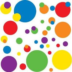 Amazon.com: RoomMates RMK1248SCS Just Dots Primary Colors Peel & Stick Wall Decals: $10.00 -Maeve's room