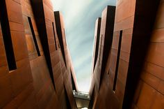 copper cladding - Ironbank building, New Zealand by phillip wong Contemporary Architecture, Interior Architecture, Zabriskie Point, Great View, Auckland, Cladding, Looking Up, Exterior Design, New Zealand