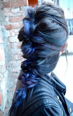 Messy Blue Hair