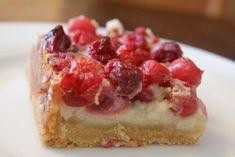 cranberry custard bars