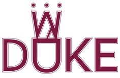 Logo in burgundy...