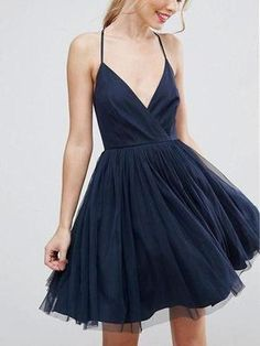 Prom Dresses Beautiful, Navy Halter Blue Cheap Homecoming Dresses,short prom dress, Looking for the perfect prom dress to shine on your big night? Prom Dresses 2020 collection offers a variety of stunning, stylish ball. Homecoming Dresses Under 100, Navy Blue Homecoming Dress, Cheap Short Prom Dresses, V Neck Prom Dresses, Sexy Dresses, Formal Dresses, Navy Dress, Dress Prom, Stylish Dresses