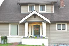 A Twofer:  How to Paint Brick and How to Paint Metal Window Trim -- AFTER