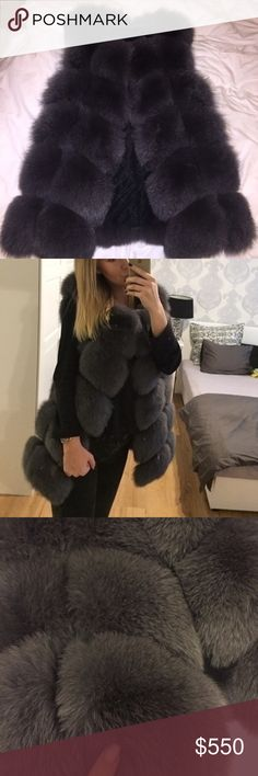 Fur Vest Genuine Siberian-fox fur vest in an excellent condition. Worn about 5 times during one season, otherwise stored and well taken care of. Shows no signs of wear. Very chique style that is perfect for fall and winter. Please ask any questions. Jackets & Coats Vests