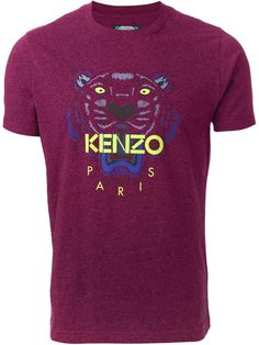 Kenzo tiger print T-shirt on shopstyle.co.uk
