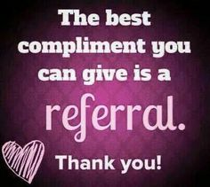 Referral compliment