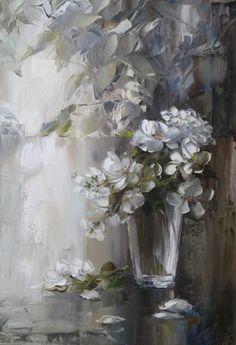"""Spring Blossoms"" ~ Art by Oksana Kravchenko (1971)"