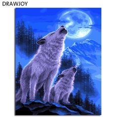 Wolf - Painting Art by Kentaro Nishino - Nature Art & Wildlife Art - Airbrushed Wildlife Art. Artwork Lobo, Wolf Artwork, Wolf Photos, Wolf Pictures, Anime Wolf, Wolf Wallpaper, Animal Wallpaper, Beautiful Wolves, Animals Beautiful