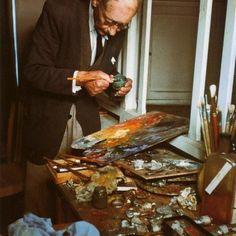 Pierre Bonnard at work in his #studio hyn