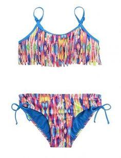 Tie Dye Fringe Bikini Swimsuit | Girls Swimsuits Swim Shop | Shop Justice