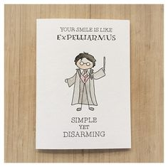 HARRY POTTER LOVE CARD Expelliarmus You Put A Spell On Me Valentines Day Anniversary Love Friendship Greeting Card Cards