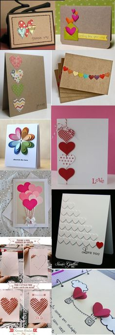 Heart Crafts and Treats Creative Birthday Cards, Homemade Birthday Cards, Creative Cards, Homemade Cards, Diy Crafts For Gifts, Diy Arts And Crafts, Valentine Day Cards, Valentine Crafts, Birthday Card Drawing
