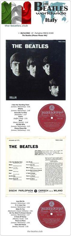 "The Beatles Italy LP Parlophon PMCQ 31502 Long Play 12"" Vinyl Record"