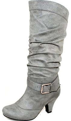 Women's Wild Diva Lala-03 Suede Leather Mid Knee High Fashion Shoes ** Want to know more, click on the image.