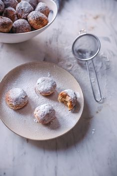 CASTAGNOLE, ITALIAN SWEET FRITTERS, little fried dough balls with powdered sugar. Easy to make and perfect for Carnival or any time of the year!