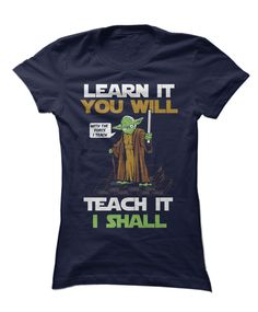 Master your classroom and teach with the force in this awesome tee! - mens fitted black shirt, guys button down shirts, navy button down shirt mens *ad Teacher Wear, Teacher Style, Teacher Outfits, Best Teacher, Teacher Fashion, Star Wars Classroom, Classroom Themes, Disney Classroom, Teacher Quotes