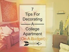 7 Tips For A College Apartment (on a budget): | Craftify Me