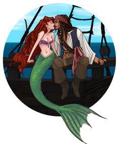 Jack Sparrow e Ariel