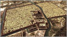 Reconstruction of the ancient city of Babylon.More amazing images here Babylon City, Babylon Iraq, Ap World History, Ancient History, Ancient Art, Historical Architecture, Ancient Architecture, Fantasy World Map, Fantasy Art