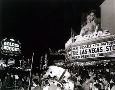 World premiere of The Las Vegas Story in 1952. Demolished some time after the mid 70s.