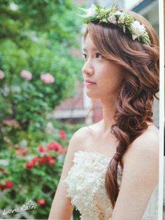 Yoona of Girls Generation. I just think she's so pretty- Sehun, Exo, Yuri, Girl's Generation, Vintage Wedding Photography, Yoona Snsd, Love Rain, Bride Hairstyles, Korean Hairstyles