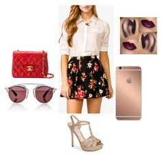 Sin título #268 by mafer-cmxxi on Polyvore featuring moda, Forever 21, Nina, Chanel, Christian Dior and Mura
