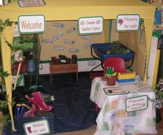 A super Garden Centre classroom role-play photo contribution. Great ideas for your classroom! Dramatic Play Area, Dramatic Play Centers, Preschool Garden, Preschool Ideas, Teaching Ideas, Play Corner, Role Play Areas, Diy Garden Projects, Garden Ideas