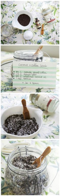 Wake Up With This Coconut + Coffee Body Scrub -